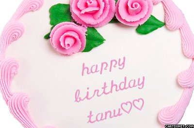 Happy Birthday Tanu Cake Images